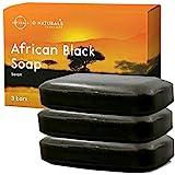 Afrikanische schwarze Seife African Black Soap gesamt 339g Natürliche Sheabutter Riegel...