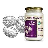 Alteya Bio Sheabutter 350ml – 100% USDA Organic-zertifiziert Rein Natürlich Raffinierte...